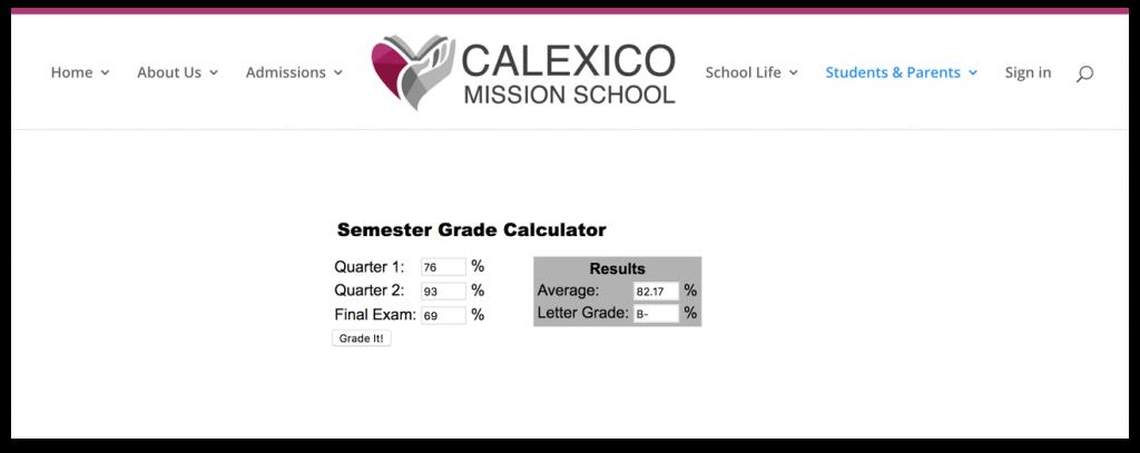 cms grade calculator
